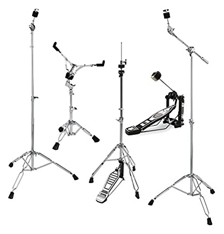 XDrum HP-500 Hardware Pack 5-teilig (Galgenbeckenständer, gerader Beckenständer, Snare Drum-Ständer, Single Fußmaschine, (Cymbal Stand Pack)