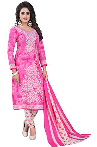Crazy Women's Pure Cotton Printed Dress Material for Women With Cotton Dupatta...