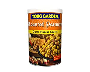 Tong Garden Roasted Peanuts Tin, Currey Flavour, 130g