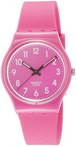 Swatch Damen Digital Quarz Uhr mit Silikon Armband GP128K