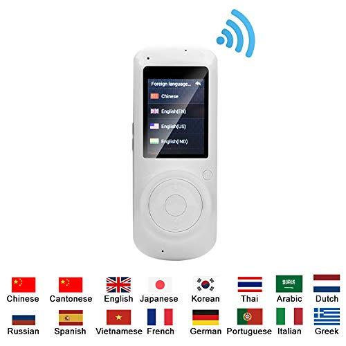 VBESTLIFE 37 Sprachen Intelligent Übersetzer,mit 2.4 in IPS Bildschirm Translator, Tragbare Echtzeit Übersetzung Wifi Übersetzer für Reisen, Einkaufen,Unterhaltung, Lernen usw.