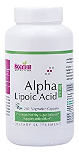 Zenith Nutrition Alpha Lipoic Acid 100 mg - 240 Capsules