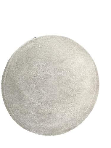 LaVelaHOME Tapis Rond cm 80 Gris Argent Silver setato