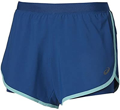 Asics 2 In 1 5.5 Inch Womens Running Shorts - Blue