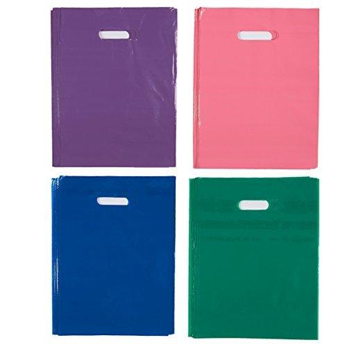Blue Panda Plastic Merchandise Taschen, 100-teiliges Set - Goody Taschen - Treat Bags - ideal für den Einzelhandel, Geburtstagsfeier, Gunst, Shopping, Geschenk verwenden, 9 x 12 Zoll