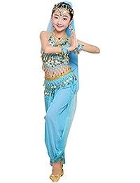 Anguang Mädchen Kinder Bauchtanz Kostüm Set Halloween Karneval Hosen Tanzkleidung