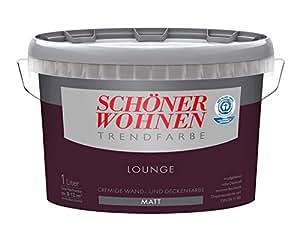 Schöner Wohnen Wandfarbe 1 Liter, Farbton Lounge Matt, Lila