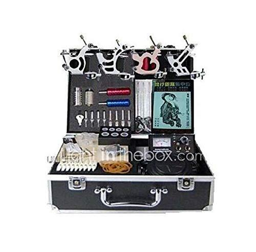 Tattoo-Maschine Professional Tattoo Kit-4 Pcs Tattoo-Maschinen, Professionelle LED-Stromversorgungs Koffer Inklusive 4 Stahl Maschinen Liner