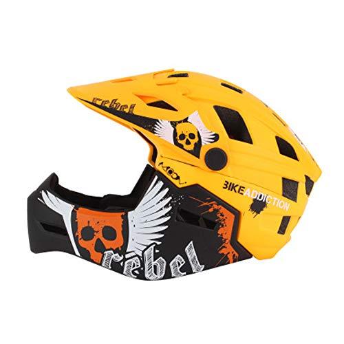 Fahrradhelm Mountainbike ausrüstung kinderhelm Skating schutzausrüstung Fahrrad Balance autosicherheitshut, Motocross Helm, kinderhelm-Yellow-M