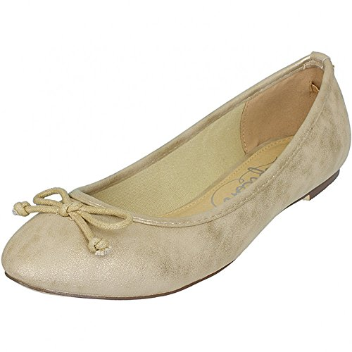 Refresh Shoes, Ballerine donna Oro oro, Oro (oro), 41
