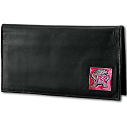 NCAA Maryland Terrapins Deluxe Leather Checkbook Cover
