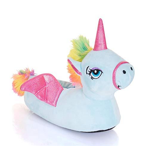 Womens Ladies Soft Fleece Plush Novelty 3D Slippers - Unicorn, Llama, Penguin