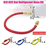 Car Auto R12 R22 Can Tap Tapper Air Conditioning Refrigerant Recharge Hose Kit Different Colors : Blue