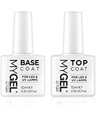 Mylee Mygel Soak Off Gel vernis à ongles top et base coat (lot de 2)