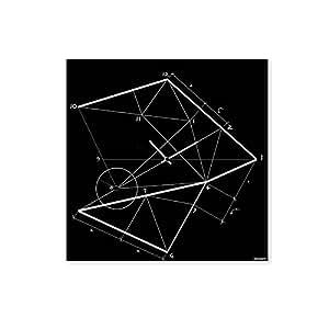 dESIGNoBJECT Orologio da muro Time Line nero 50x50 Made in Italy