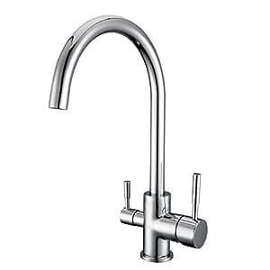 Smardy duo302 360 robinet mitigeur cuisine 3 voies pour for Robinet pour osmoseur cuisine