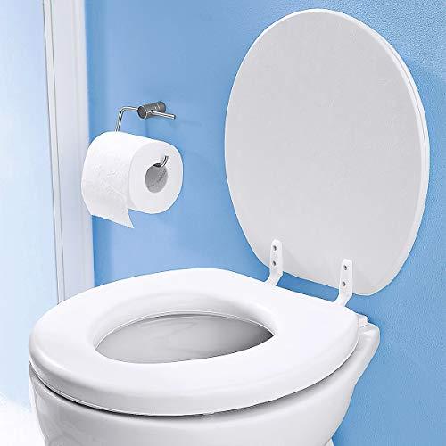 Soft WC Sitz gepolstert Farbe weiss -