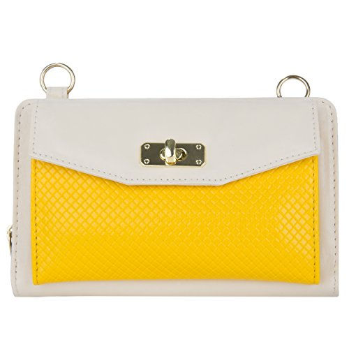 VnaGoddy, Poschette giorno donna Multicolore Cream/Yellow Cream/Yellow