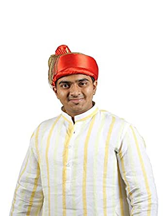 eKolhapuri Traditional Handstitched Ready To Wear Typical Puneri Tilak Topi (Turban Safa) for Men