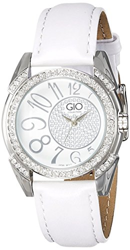 Gio Collection Analog White Dial Women's Watch - G0041-02 image