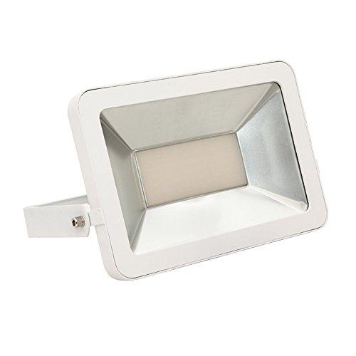 SAILUN 100W Kaltweiß LED Strahler Licht Scheinwerfer Außenstrahler Wandstrahler Weiß Aluminium IP65 Wasserdicht AC 85-265V