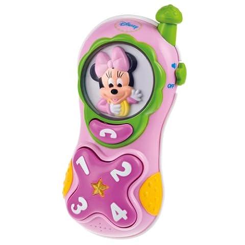 Clementoni - 62371-Téléphone lumière et sons de Minnie - parlant-PREMIER AGE