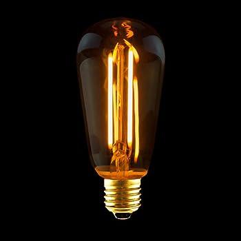 LED Rustika Carbon Edison Glühbirne 2W E27 warmweiß 2100K Retro Deko Glühlampe