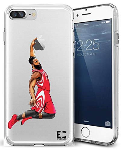 iPhone 6/6S iPhone 7/iPhone 8 Hülle Epic Cases Ultra Slim Crystal Clear Basketball Series Soft Transparent TPU Case Cover Apple (iPhone 6/6s) (iPhone 7) (iPhone 8), iPhone 6/7/8 Plus, Harden