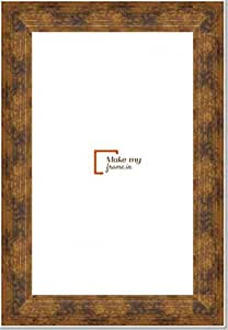 12x29 Inch Photo / Picture Frame in Dull Gold finish. For framing Documents, photos, Artwork, K319 Series - 1.22 inch wide moulding