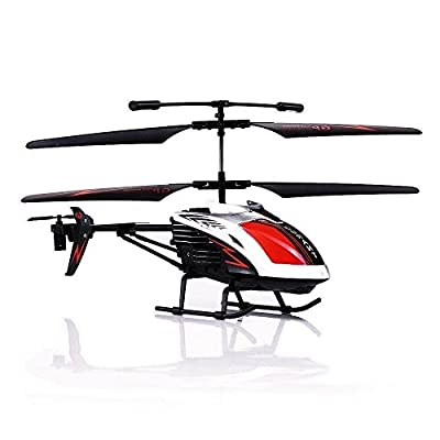 RC Airplane, 3.5 Channel Durable Aircraft Toy Remote Controlled with Gyro and LED Light for Indoor Outdoor, Ready to Fly Model Best Birthday Christmas Festival Gift for Boys & Girls and Even Adults