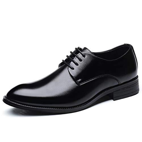 Qianliuk Männer Formale Schuhe Hochzeit Leder Oxford Schuhe (Tuxedo Schwarz Formale Hochzeit)