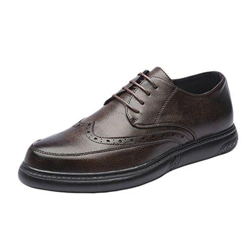 Sunny&baby mocassini eleganti con lacci da uomo scarpe da ufficio in vera pelle casual traspirante resistente all'abrasione ( color : brown , dimensione : 40 eu )