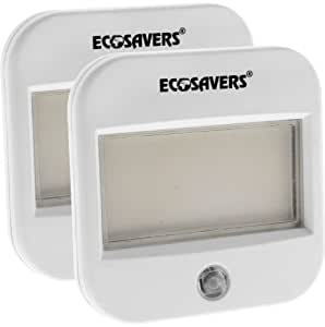 Eco Savers Night Light - Low Energy Flat Panel with Sensor (Model T-ES-16) - TWIN PACK !