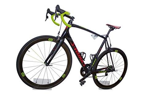 Soporte de pared para bicicleta trelixx en acrílico transparente (acabado láser) para bicicleta de carreras, soporte de diseño para bicicleta con montaje en la pared