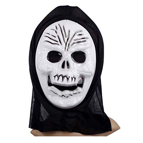 Ukallaite Let 's Party Full Face Maske Scary Grimace Halloween-Kostüm Evil Creepy Party Horror-Centipede Gesicht, Plastik, Einfarbig, Human Skeleton Man (Halloween-kostüme Mens Scary)