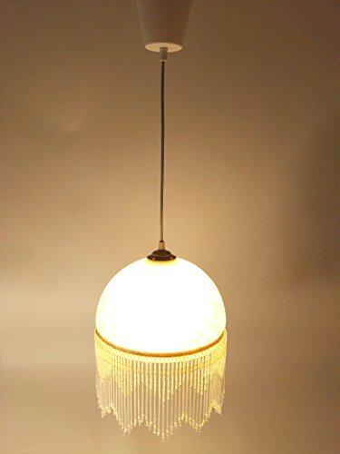 LED-Deckenleuchte LED-Pendelleuchte Weide1-flammig Landhausstil Leuchte messing-antik Glasschirm Fassung E27 - 6Watt 730lm (Antike Messing Leuchten)