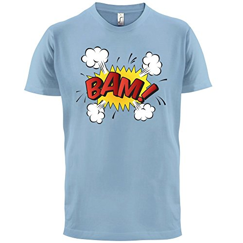 Superheld Bam - Herren T-Shirt - 13 Farben Himmelblau