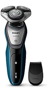 Philips AquaTouch S5420/06 - Rasoio Elettrico AquaTec Wet & Dry con Lame MultiPrecision,Testina Flex 5 direzioni e Sistema di protezione della pelle + Rifinitore precisione