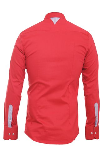 Redbridge Herren Regular Fit Freizeithemd Men´s Shirt 41611 Rot