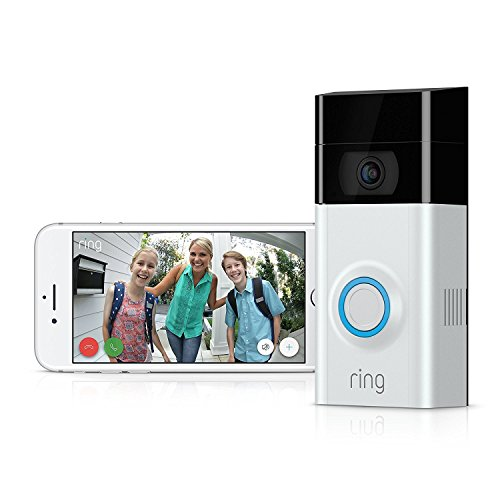 Ring Video Doorbell 2 | 1080p HD Video, Two-Way Talk, Motion Detection, Wi-Fi Connected (Satin Nickel)