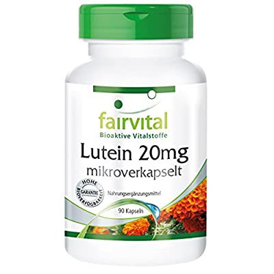 Fairvital - Lutein 20mg with Zeaxanthin - 90 Vegetarian Capsules from fairvital