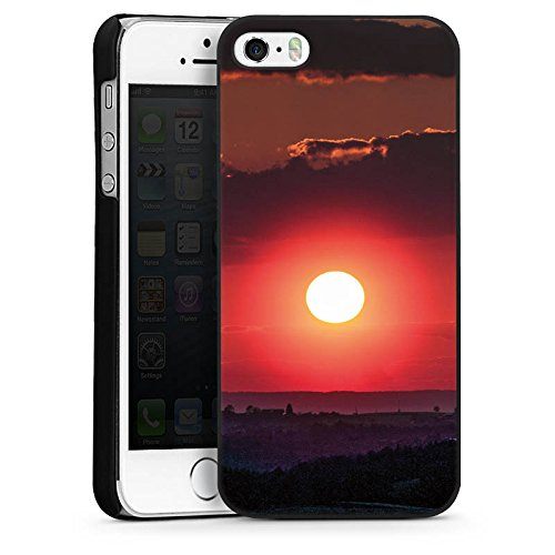 Apple iPhone 4 Housse Étui Silicone Coque Protection Coucher de soleil Paysage Romantisme CasDur noir