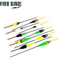 Ocamo Flotador de Pesca Set Flutuador Color Fluorescente para Carpa Pesca Buoy Flotadores Tackle - 10pcs