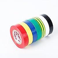 Trifycore 5 piezas de cinta de aislamiento eléctrico multicolor