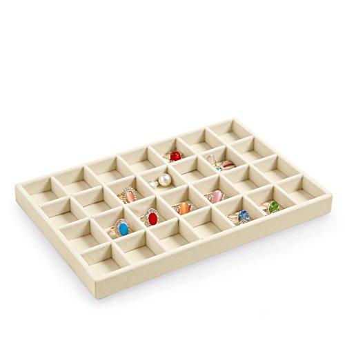 scatola di immagazzinaggio di semplici gioielli/Alta qualità velluto gioielli collana orecchino anello display vassoio/contenitore di orologio di moda-F