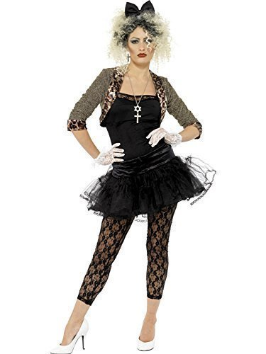 Party Outfits Motto 90er Jahre (Damen Damen Madonna 80er 1980er Smiffy 's Kostüm – alle)