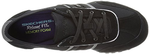 Skechers Sport Cool It Fashion Sneaker Black Suede/Mesh/Gunmetal Trim