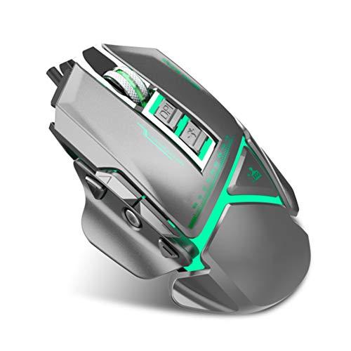 Gaming-Maus 3200 DPI Und 11 Programmierbare Tasten Professionelle Kabelgebundene Maus Komfortables Plug-And-Play Für Anspruchsvolle Spiele Und Die Arbeit,Silver -