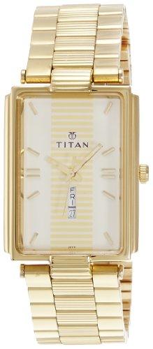 Titan Karishma Analog Gold Dial Men's Watch - NE1455YM02 image
