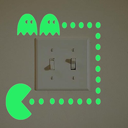 Preisvergleich Produktbild Xshuai Schalter-Aufkleber-Licht-leuchtende night nette DIY Karikatur-kreative Wand-Aufkleber-Abziehbilder Art Wandbild-Dekoration Ihr Raum (C)